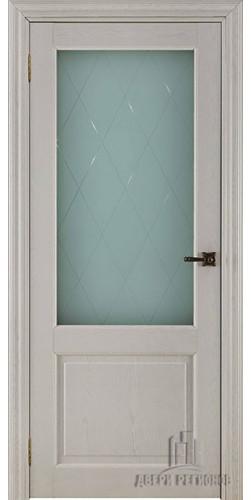 Дверь межкомнатная ВЕРСАЛЬ 40004 со стеклом экошпон цвет ясень перламутр