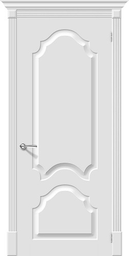 Межкомнатная дверь окрашенная Скинни-32 Whitey