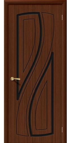 Межкомнатная дверь шпонированная Лагуна ПГ Ф-17 (Шоколад)