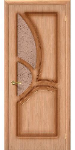 Межкомнатная дверь шпонированная со стеклом Греция Ф-01 (Дуб)