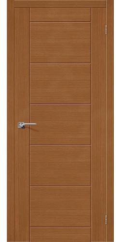 Дверь шпонированная глухая Граффити-4 цвет Ф-11 (Орех)