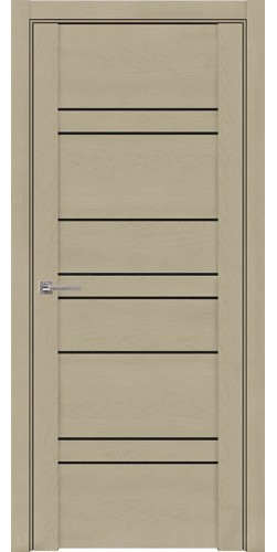 Дверь межкомнатная UniLine 3003 со стеклом экошпон цвет кремовый
