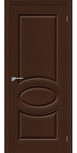 Дверь шпонированная глухая Статус-20 цвет Ф-27 (Венге)