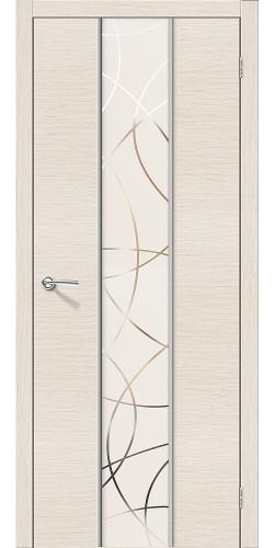Дверь шпонированная со стеклом Карат цвет Ф-22 (БелДуб)