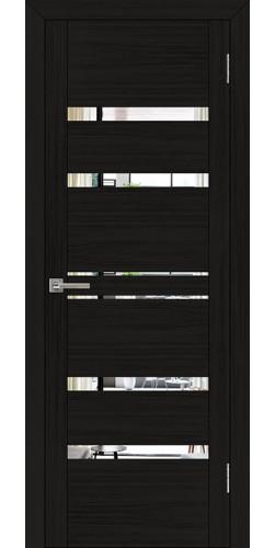 Дверь межкомнатная  UniLine 30030 с зеркалом экошпон цвет шоко велюр