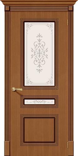 Дверь шпонированная со стеклом Стиль цвет Ф-11 (Орех)