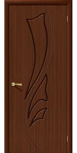 Дверь шпонированная глухая Эксклюзив цвет Ф-17 (Шоколад)