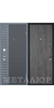 Входная дверь МеталЮр М28 Дуб шале графит