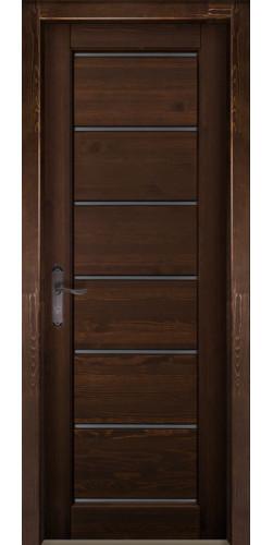Дверь из массива ольхи межкомнатная Премьер плюс (ПЧО) цвет античный оех