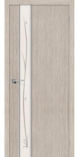 Межкомнатная дверь 3D Глейс-1 Twig 3D Cappuccino