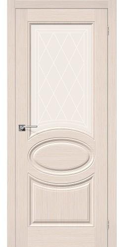 Дверь шпонированная со стеклом Статус-21 цвет Ф-20 (БелДуб)