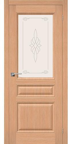 Дверь шпонированная со стеклом Статус-15 цвет Ф-01 (Дуб)