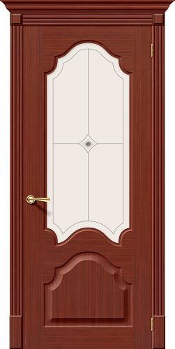 Дверь шпонированная со стеклом Афина Ф-15 (Макоре)