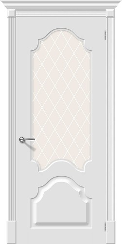 Межкомнатная дверь окрашенная Скинни-33 Whitey
