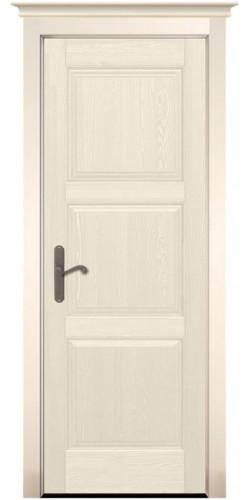 Дверь межкомнатная из массива сосны Турин Браш слоновая кость без стекла