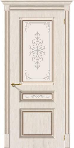 Дверь шпонированная со стеклом Стиль цвет Ф-22 (БелДуб)