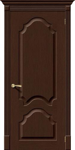 Дверь шпонированная глухая Афина цвет Ф-27 (Венге)