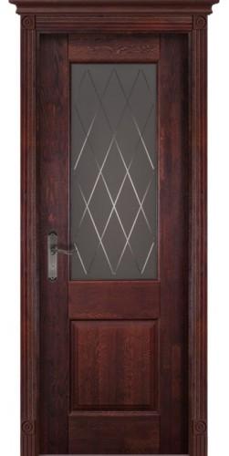 Дверь Классика №2 ПО махагон