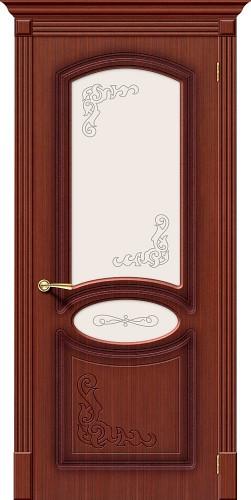 Дверь шпонированная со стеклом Азалия Ф-15 (Макоре)