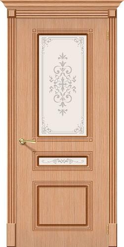 Дверь шпонированная со стеклом Стиль цвет Ф-01 (Дуб)