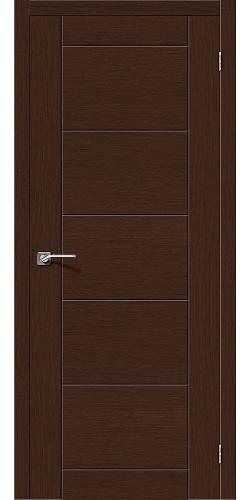 Дверь шпонированная глухая Граффити-4 цвет Ф-27 (Венге)