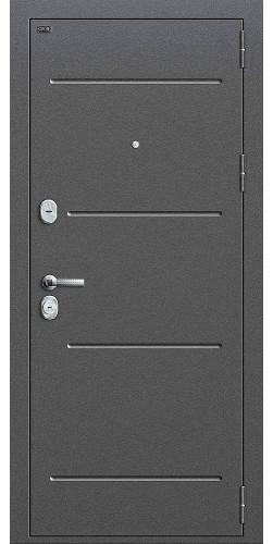 Входная дверь Т2-204 Антик Серебро/Cappuccino Crosscut