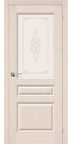 Межкомнатная дверь шпонированная со стеклом Статус-15 Ф-20 (БелДуб)