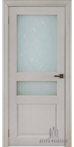 Дверь межкомнатная ВЕРСАЛЬ 40006 со стеклом экошпон цвет ясень перламутр