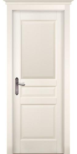 Дверь из массива ольхи межкомнатная Валенсия глухая цвет слоновая кость