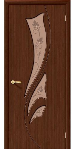Дверь шпонированная со стеклом Эксклюзив Ф-17 (Шоколад)