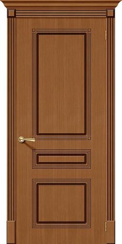 Дверь шпонированная глухая Стиль цвет Ф-11 (Орех)