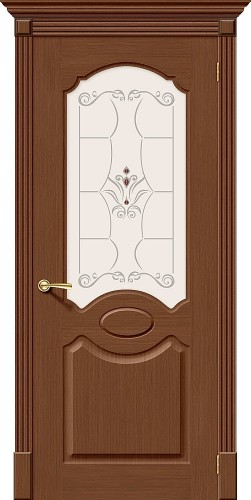 Межкомнатная дверь шпонированная со стеклом Селена Ф-12 (Орех)