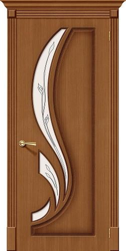 Межкомнатная дверь шпонированная со стеклом Лилия Ф-11 (Орех)