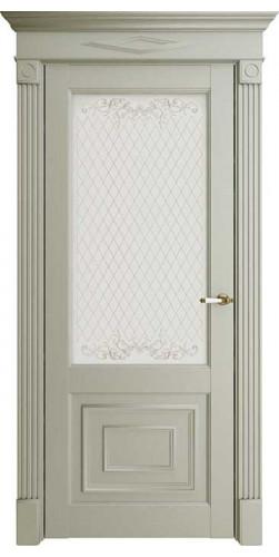 Дверь межкомнатная FLORENCE 62002 со стеклом экошпон цвет серена светло серый