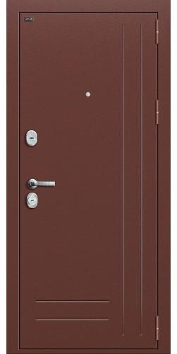 Входная дверь Р2-200 Антик Медь/П-1 (Темный Орех)