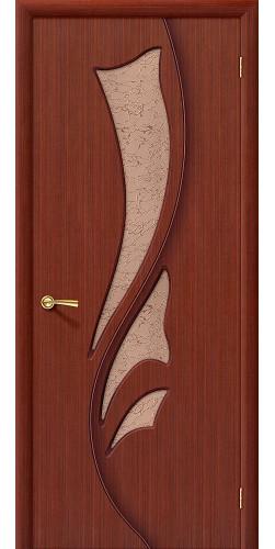 Межкомнатная дверь шпонированная со стеклом Эксклюзив Ф-15 (Макоре)