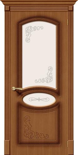 Межкомнатная дверь шпонированная со стеклом Азалия Ф-11 (Орех)