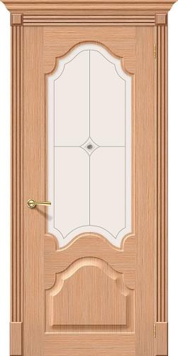 Дверь шпонированная со стеклом Афина цвет Ф-01 (Дуб)