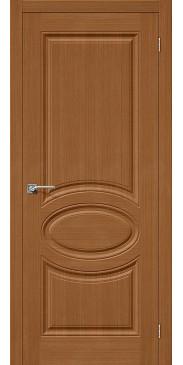 Шпонированная межкомнатная дверь Статус-20 Ф-11 (Орех) без стекла