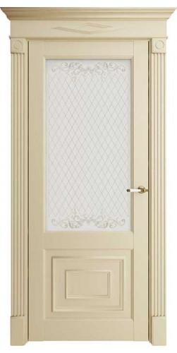 Дверь межкомнатная FLORENCE 62002 со стеклом экошпон цвет серена керамик