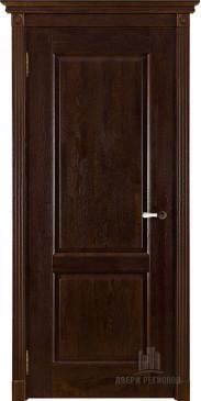 Дверь межкомнатная массив дуба Селена античный орех без стекла