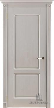 Дверь межкомнатная массив дуба Селена эмаль слоновая кость без стекла