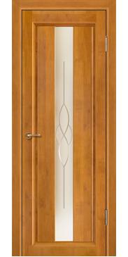 Дверь межкомнатная массив ольхи Версаль медовый орех со стеклом