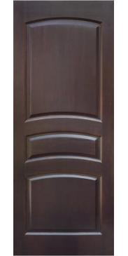 Дверь межкомнатная из массива сосны М 16 темный лак без стекла