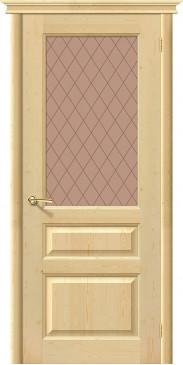 Дверь межкомнатная из массива сосны М 5 без отделки со стеклом