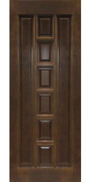 Дверь межкомнатная из массива сосны М 11 темный лак без стекла