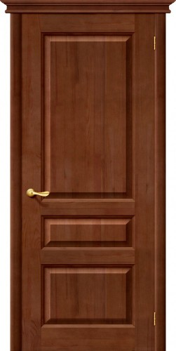 Дверь межкомнатная из массива сосны М5 тёмный лак без стекла