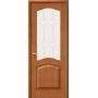 Межкомнатная дверь из массива со стеклом М 7 светлый лак тон 30