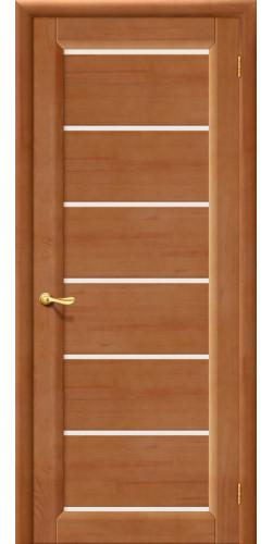 Дверь межкомнатная из массива сосны М2 светлый лак со стеклом