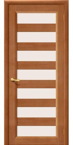 Межкомнатная дверь из массива со стеклом М3 светлый лак